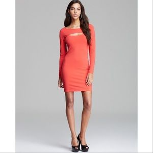 NWT Guess || Red Bodycon Cutout Dress Small